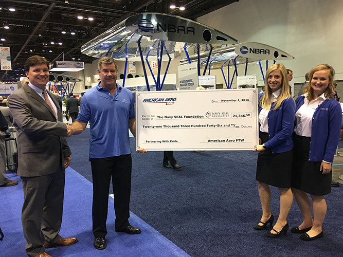 American Aero FTW delivers $21,000 Donation to the The Navy SEAL Foundation