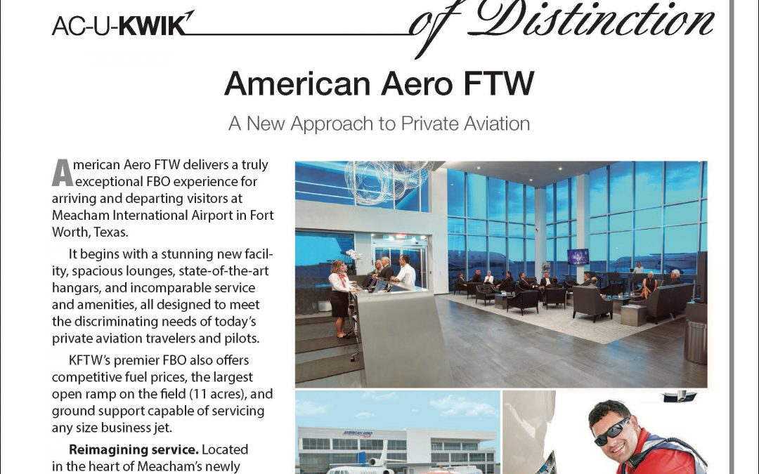 American Aero FTW: 2017 AC-U-KWIK FBO of Distinction