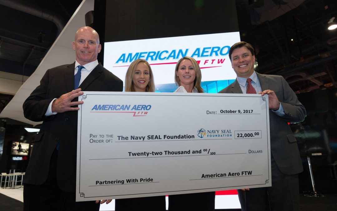 American Aero FTW Donation to Navy SEAL Foundation Kicks Off New Scholarship Program for Pilot Education