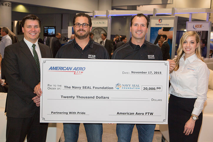 American Aero FTW Donates $20,000 to support the Navy SEAL Foundation