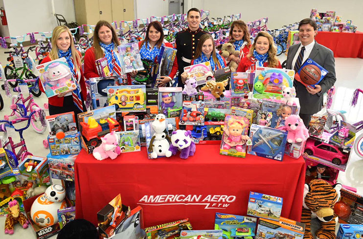 American Aero FTW Hosts Annual Holiday Toy Drive to Benefit U.S Marine Corps Reserve Toys for Tots Program